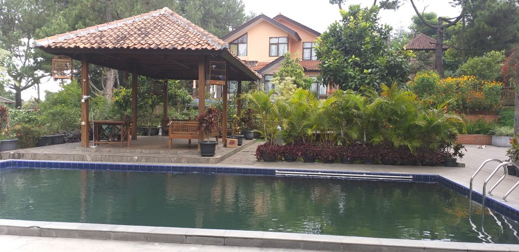 Villa trinity kampung daun fasilitas kolam renang